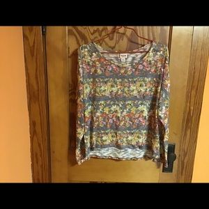 Mossimo bright floral xl sheer sweater coverup